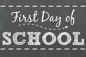 Procedure for First Day of School ~ September 5th